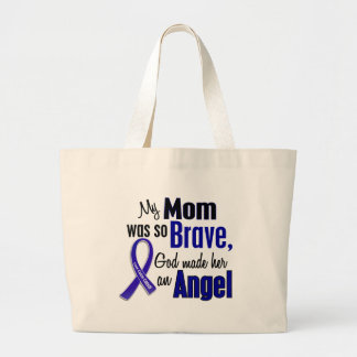 Colon Cancer ANGEL 1 Mom Jumbo Tote Bag