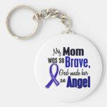 Colon Cancer ANGEL 1 Mum Basic Round Button Key Ring