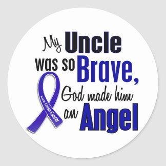 Colon Cancer ANGEL 1 Uncle Classic Round Sticker