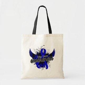 Colon Cancer Awareness 16 Budget Tote Bag