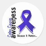 Colon Cancer Awareness 5 Round Sticker