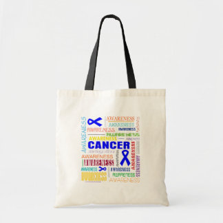 Colon Cancer Awareness Collage Budget Tote Bag