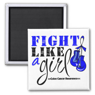 Colon Cancer Awareness Fight Like a Girl Fridge Magnets