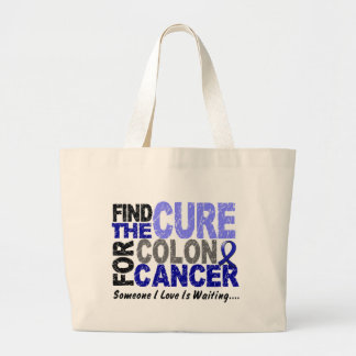 Colon Cancer Awareness FIND THE CURE 1 Tote Bag