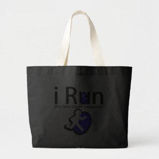 Colon Cancer Awareness I Run Canvas Bags