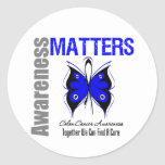 Colon Cancer Awareness Matters Round Sticker