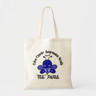 Colon Cancer Awareness Month Bee 1.2 Tote Bag