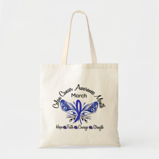 Colon Cancer Awareness Month Butterfly 3.2 Canvas Bag