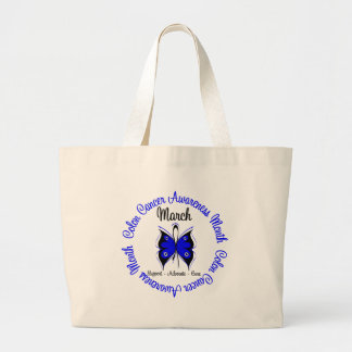 Colon Cancer Awareness Month Butterfly Canvas Bag