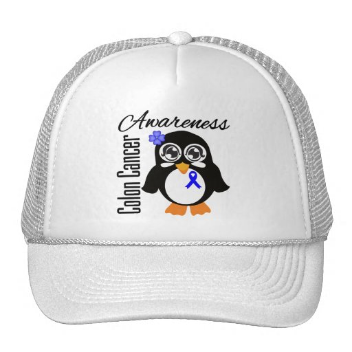 Colon Cancer Awareness Penguin Hat