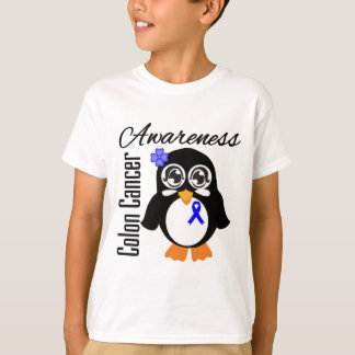 Colon Cancer Awareness Penguin Tshirt