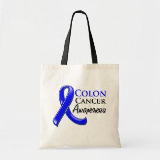 Colon Cancer Awareness Ribbon Budget Tote Bag