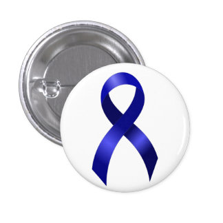 Colon Cancer Blue Ribbon 3 Cm Round Badge