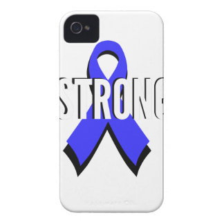 Colon Cancer Blue Ribbon Strong Case-Mate iPhone 4 Cases