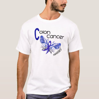 Colon Cancer BUTTERFLY 3 T-Shirt