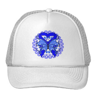 Colon Cancer Butterfly Circle of Ribbons Hat