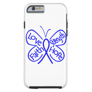 Colon Cancer Butterfly Inspiring Words Tough iPhone 6 Case