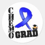 Colon Cancer Chemo Grad Round Sticker