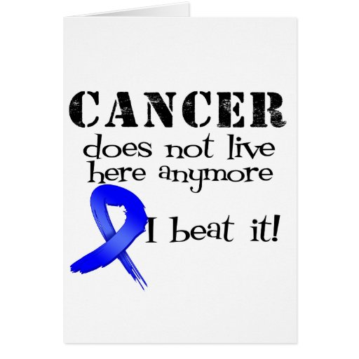 Colon Cancer Does Not Live Here Anymore Cards