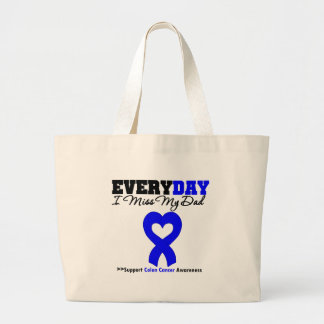 Colon Cancer Every Day I Miss My Dad Jumbo Tote Bag