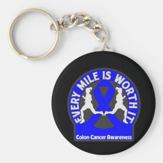 Colon Cancer Every Mile Is Worth It Keychain
