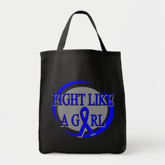 Colon Cancer Fight Like A Girl Circular Bags