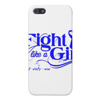 Colon Cancer Fight Like A Girl Elegant iPhone 5 Cover