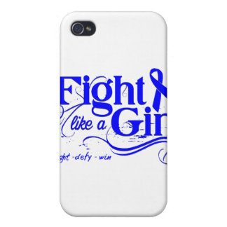 Colon Cancer Fight Like A Girl Elegant Cases For iPhone 4