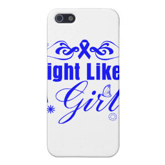 Colon Cancer Fight Like A Girl Ornate Cases For iPhone 5