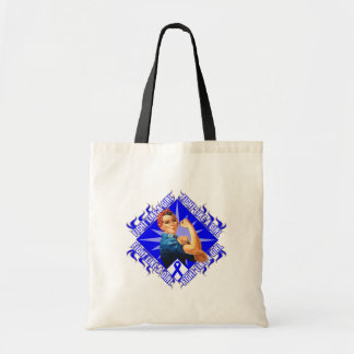 Colon Cancer Fight Rosie The Riveter Tote Bags