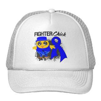 Colon Cancer Fighter Chick Grunge Trucker Hat