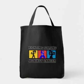 Colon Cancer Fighting Strong Grocery Tote Bag