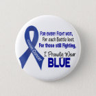 Colon Cancer For Every…..I Proudly Wear Blue 1 6 Cm Round Badge