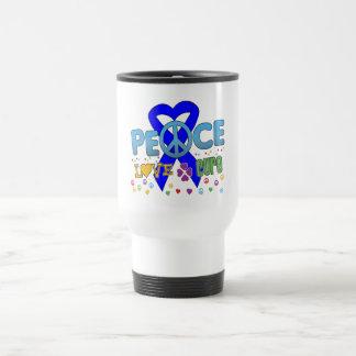 Colon Cancer Groovy Peace Love Cure Mugs