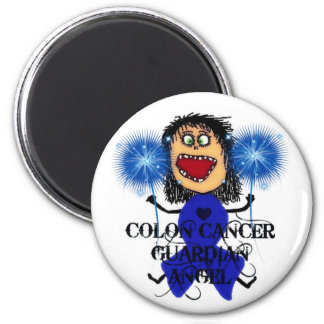 Colon Cancer Guardian Angel 6 Cm Round Magnet