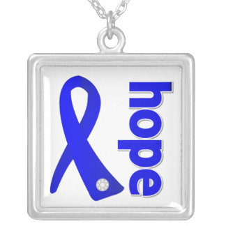 Colon Cancer Hope Blue Ribbon Custom Jewelry