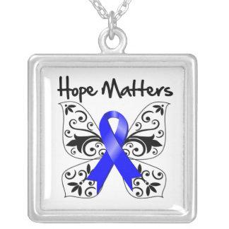 Colon Cancer Hope Matters Necklace