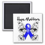 Colon Cancer Hope Matters Square Magnet