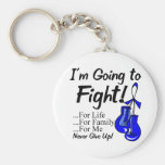Colon Cancer I am Going To Fight Basic Round Button Key Ring