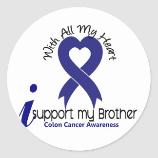 Colon Cancer I Support My Brother Classic Round Sticker