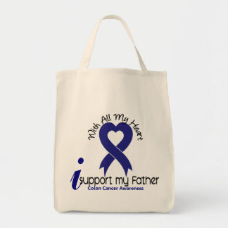 Colon Cancer I Support My Father Bag