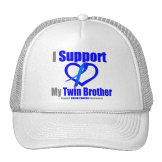 Colon Cancer I Support My Twin Brother Trucker Hat