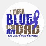 Colon Cancer I WEAR BLUE FOR MY DAD 6.3 Round Sticker