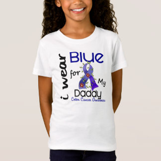 Colon Cancer I Wear Blue For My Daddy 43 T-Shirt