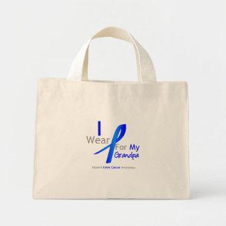 Colon Cancer I Wear Blue For My Grandpa Mini Tote Bag