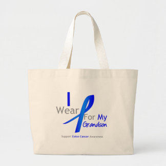 Colon Cancer I Wear Blue For My Grandson Canvas Bags