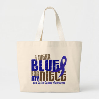 Colon Cancer I WEAR BLUE FOR MY NIECE 6.3 Tote Bags