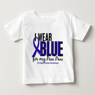Colon Cancer I Wear Blue For My Paw Paw 10 Baby T-Shirt