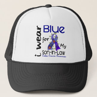 Colon Cancer I Wear Blue For My Son-In-Law 43 Cap