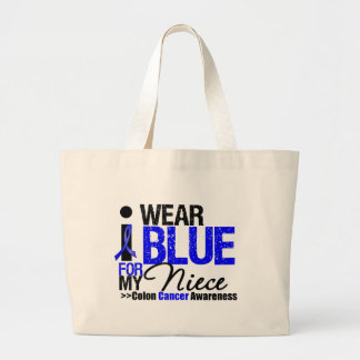 Colon Cancer I Wear Blue Ribbon For My Niece Jumbo Tote Bag